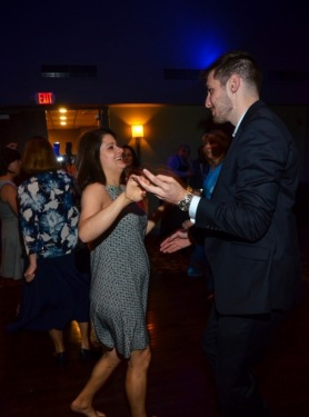 Me & Pete dancing at the reception. I have a little baby bump!
