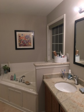 Our master bath my dad painted