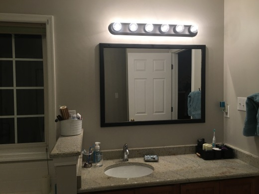 Our updated vanity. I love our bathroom, now!