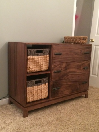 The changing table dresser Peter made