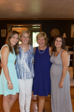 Morgan, Aunt Karen, mom, me and Charlotte at the lovely Pittsburgh baby shower!